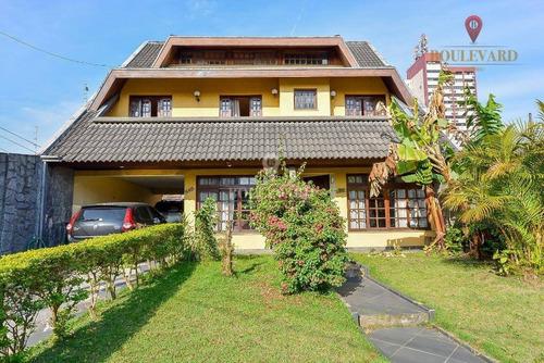 Casa Com 3 Dormitórios À Venda, 332 M² Por R$ 1.200.000 - Capão Raso - Curitiba/pr - Ca0168