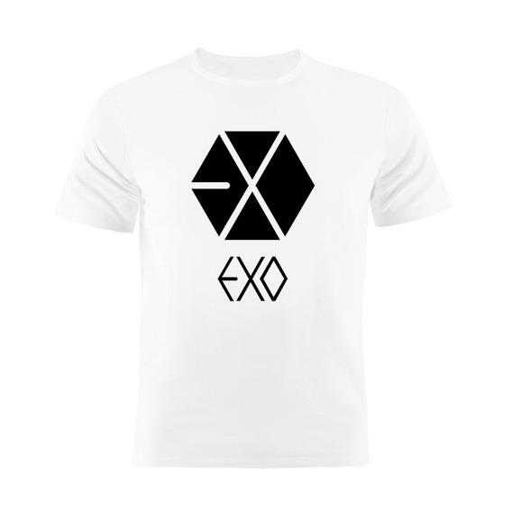 Camiseta Manga Curta Kpop Exo
