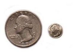 Set De 4 Monedas Miniatura Mini Chicas Pequeñas Magia Gags Coleccionistas / Alberico Magic