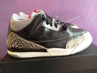Air Jordan Retro 3 Black Cement 21 Cm