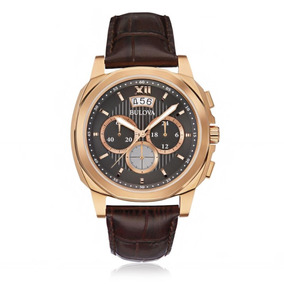 Relógio Bulova Analógico Wb31818p Marrom