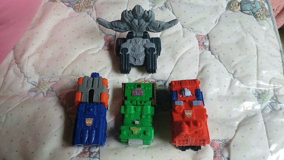 Transformers- Miniaturas Mc Donalds E Burguer King-4 Carros