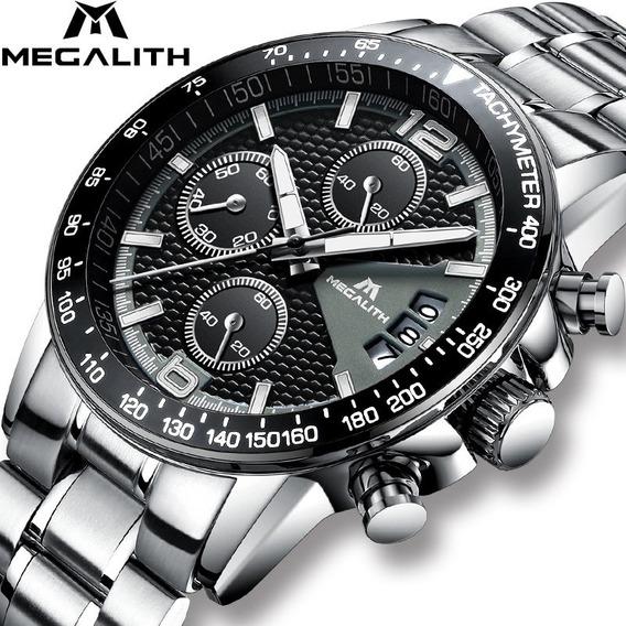 Relógio Masculino Megalith Cronômetro Completo Original