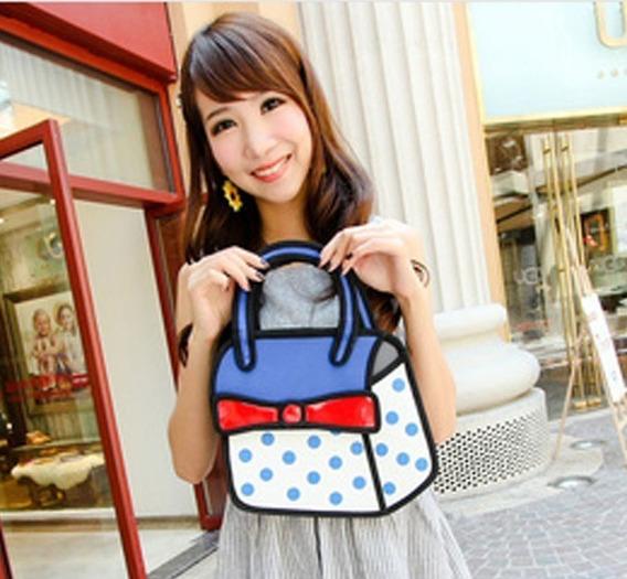 Bolso Cartera Diseño 2d 3d Cartoon Bag Handbag Importada 2