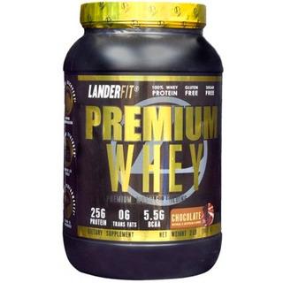 Premium Whey 2lbs (907g) - Landerfit Importado 3w Isolado
