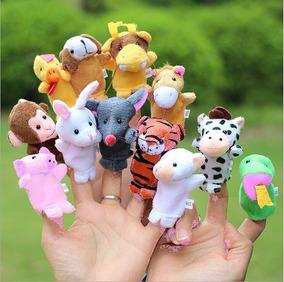 Fantoches De Dedos Dedoches Animais Kit 12 Bichinhos Novidad