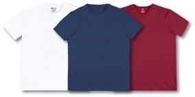 Kit C/03 Camisetas Masc Hering Super Cotton Linha Confort