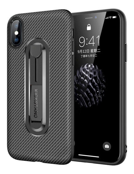 Funda Acabado Fibra De Carbono Tpu Kickstand Samsung/huawei/iphone6,7,8,plus,x/xr/xs/xsmax Nuevo