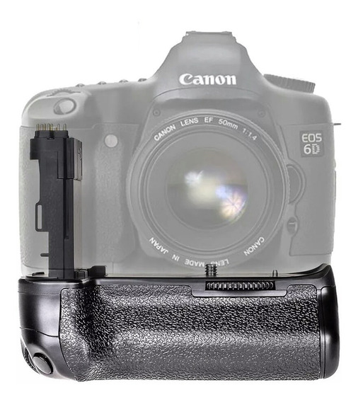Grip De Bateria Para Canon 6d - Com Suporte Para Pilhas