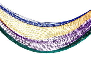 Hamaca De Colores. Material Nylon.