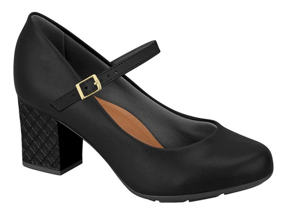 Moleca 5708.103 Sapato Feminino Boneca Confort Salto Grosso