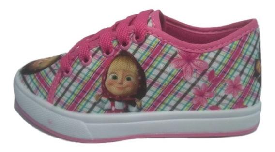 Tenis Masha E Urso Infantil Criança Feminino Menina C Brinde Sapato Promoção Barato