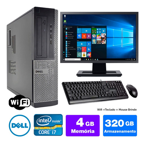 Micro Barato Dell Optiplex Int I7 2g 4gb 320gb Mon19w Brinde