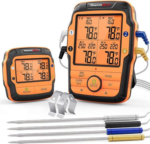 Termometro Inalambrico Thermopro Tp-27 4 Sondas Cocina Carne