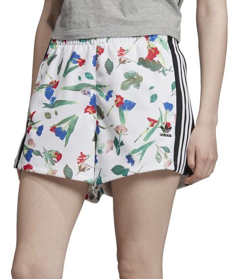 Short adidas Originals Moda Allover Print Mujer Bl/ng