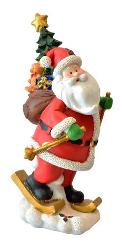 4 Santas De Resina Decoración Casa Oficina Navidad