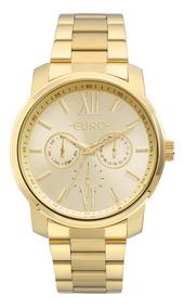 Relógio Euro Feminino Dourado Eu6p29agutd/4d