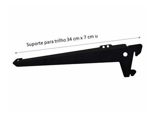 Suporte P/trilho Prateleira 34 Cm Caixa Com 02 Unidades