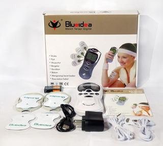 Blueidea Electro Estimulador Digital + 4 Parches Ondas Tens