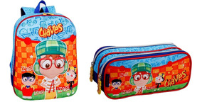 Kit Mochila G Costas E Estojo Duplo Chaves Zas 3d Pacific