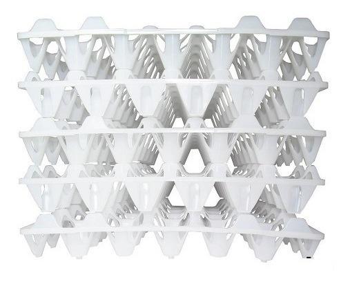 Bandeja Plástica Transporte De Ovos Pct 50 Unidades Branca