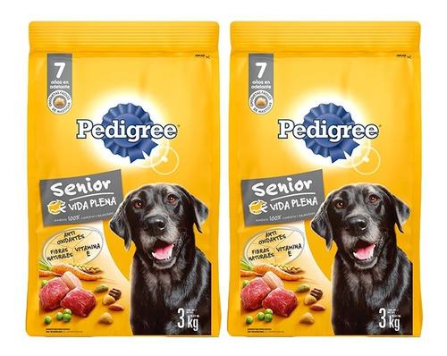 Pedigree Alimento Perro Senior 3 Kg X 2 Packs