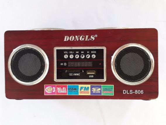 Rádio Som Portátil Dongls Fm Usb Sd Dls 907 4 Acústica 1215