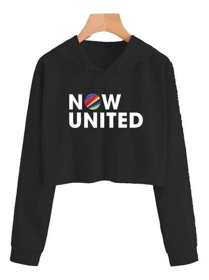 Cropped Now United Moletom Blusa Casaco Feminino Rose Top