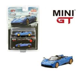 Mini Gt 1/64 Pagani Huayra Roadster Blue Francia Auto Escala