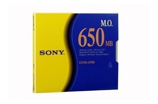 Sony Edm-650b 5.25 Inch Magneto Optical M.o. Disc, 650 Mb