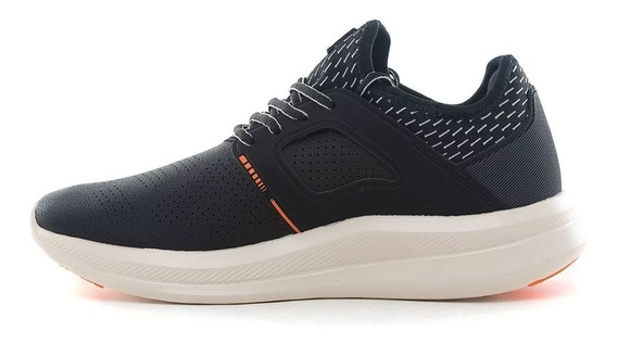 Zapatillas Fila Fit Tech Negro Naranja 9282