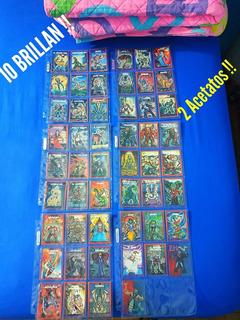 52 Tarjetas Monstruos Bolsillo Sonrics 50 Cartas 2 Acetatos