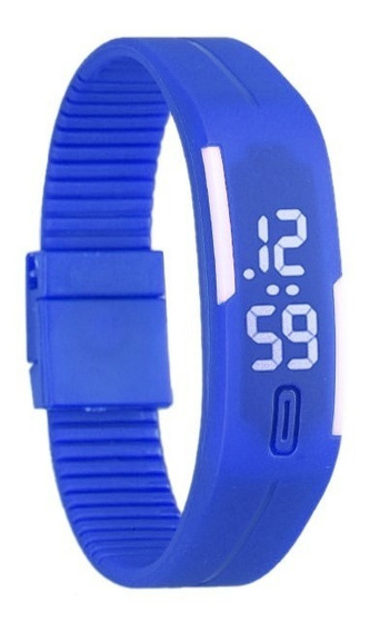Relógio Digital De Pulso Unissex Rubber Led Frete Gratis