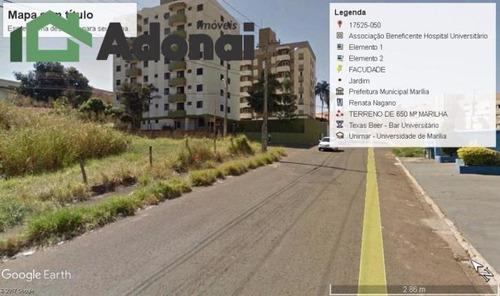 Terreno Comercial À Venda, Jardim Araxá, Marília. - Te0109