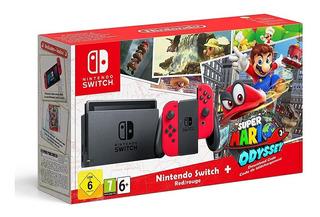Nintendo Switch + Super Mario Odyssey + Mario Kart 8 Deluxe!