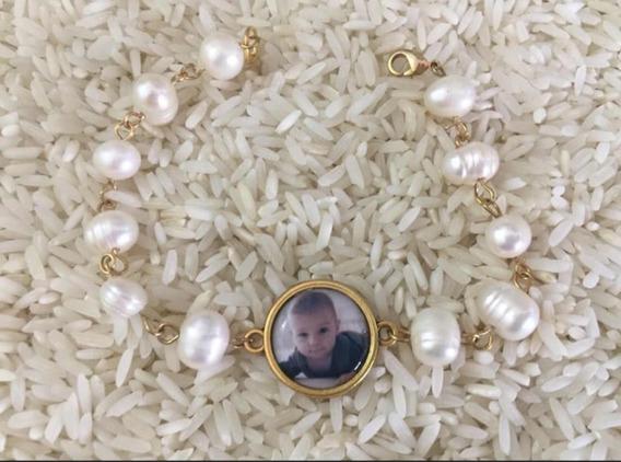 Pulsera De Perlas Barrocas Personalizado