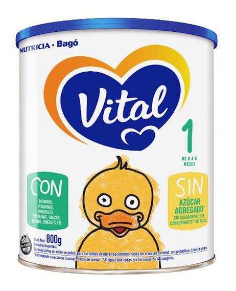 Leche de fórmula en polvo Nutricia Bagó Vital 1 en lata de 800g