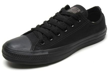 Tênis All Star Converse Monochrome Todo Preto
