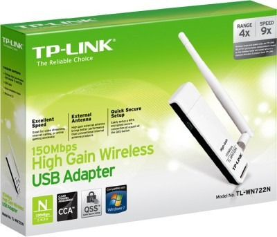 Adaptador Usb Wifi Tp-link Wn722n 150mb - Factura A / B