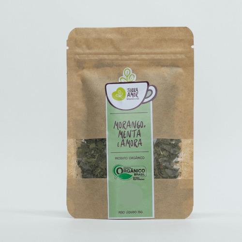 Chá Misto Morango, Menta E Amora Orgânico 15g (01 Unidade)