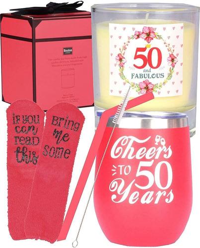 Imagen 1 de 6 de Regalo De 50 Cumpleaños Para Mujeres, 50 Cumpleaños Y 50 Año