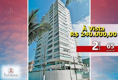 Apartamento De 2 Dormitórios Em Frente Ao Mar - Ap0851