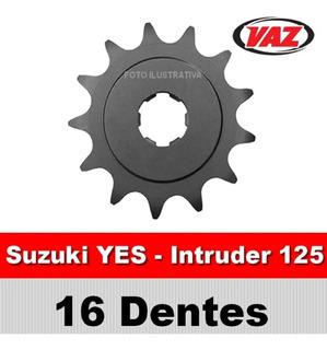 Pinhão Vaz 16 Dentes P/ Suzuki Intruder E Yes 125
