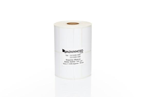 5 Rolos De Etiqueta Adesiva 50x30x2 + 2 Rolos De Ribbon