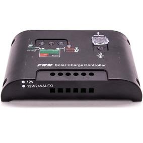 Controlador Carga Painel Solar 20a 12 E24v Pwm Lcd Regulador