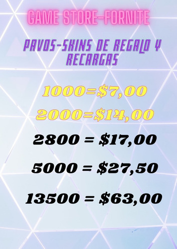 Pavos V-bucks Fortnite - Pack Diamantes-skin-club Fornite