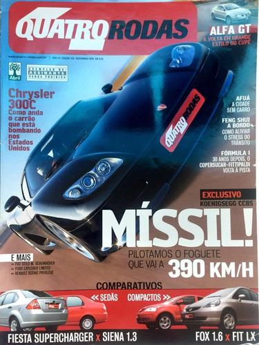Revista 4 Rodas - Chrysler 300c Míssil! - No. 532 - Nov/2004