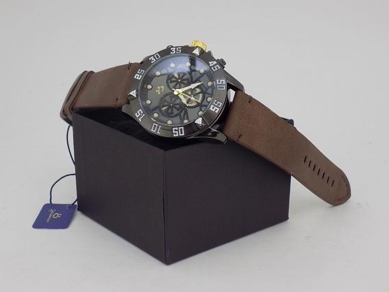 Relógio Masculino Original Pulseira Couro Orizom