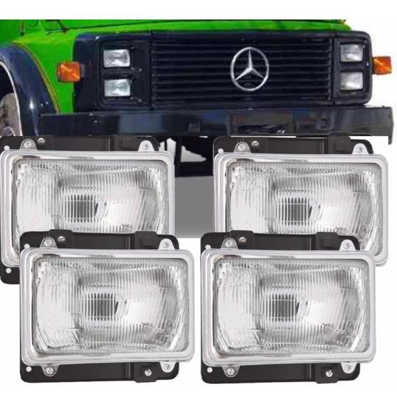 Kit 4 Farol Mercedes Benz Cara Preta 1113 1313 1513 2213