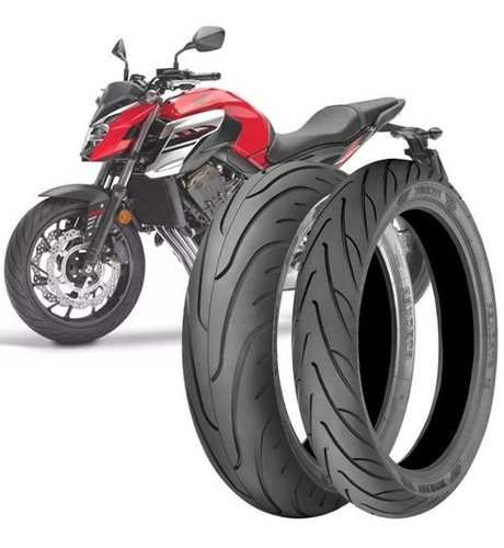 Imagem 1 de 3 de 2 Pneu Moto Cb650f 180/55-17 73v 120/70-17 58v Stroker